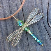 *Wholesale Dazzlefly Necklace on Leather