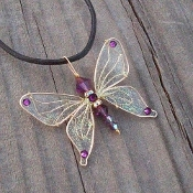 Retail Butterfly Necklace on Leather